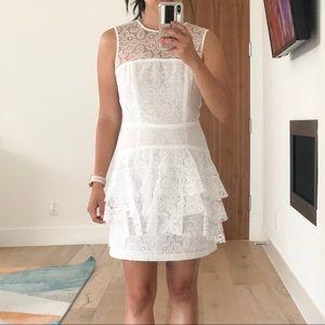 White lace peplum dress